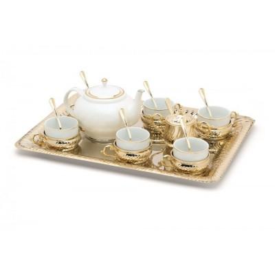 """Чайный сервиз на 6 персон с подносом Chinelli """"Stradivari"""""""
