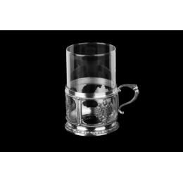 """Декоративный стакан с подстаканником для чая из олова """"Zarenwappen"""""""