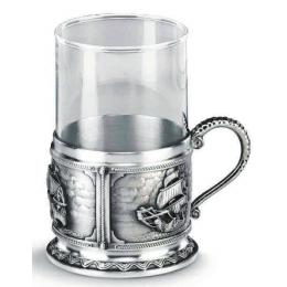 """Подарочный бокал для чая из олова """"La Paloma"""" выс.10,5см"""