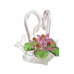 """Хрустальные цветы """"Лебединая верность"""""""