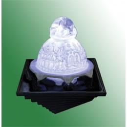 """Настольный фонтан с подсветкой """"Снежный шар"""""""