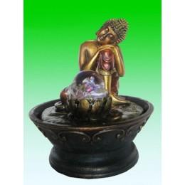 """Настольный фонтан с подсветкой """"Спящий Будда"""""""