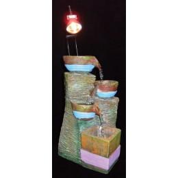 """Настольный фонтан с верхней подсветкой """"Каменные чаши"""""""