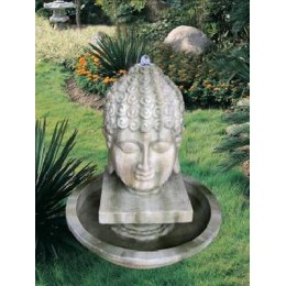 """Садовый фонтан с подсветкой """"Голова Будды"""""""