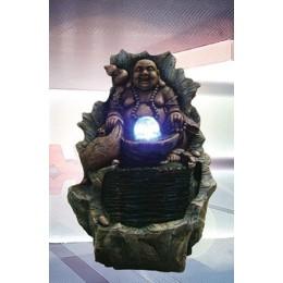"""Садовый фонтан с подсветкой """"Смеющийся Будда"""""""