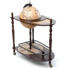 """Напольный глобус бар со столиком """"Флоренция"""""""