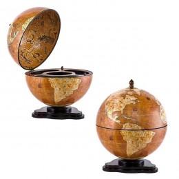 Настольный глобус бар для напитков Галилео
