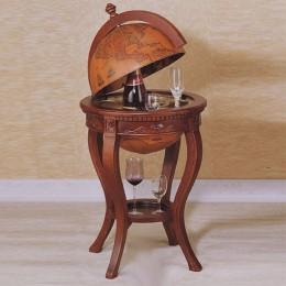 """Глобус-бар в винтажном стиле """"Уильям Баффин"""" (массив ореха)"""