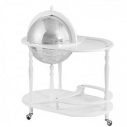 """Глобус - бар со столиком """"Лаудер"""" (зеркальная сфера) 42cм"""