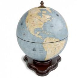 """Глобус-бар настольный """"Galileo"""" Azzuro, сфера 40см"""