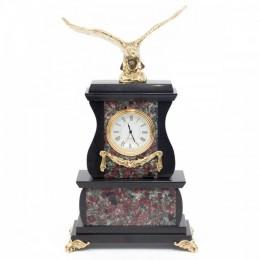 """Декоративные часы из эвдиалита """"Царский орёл"""", высота 25 см"""