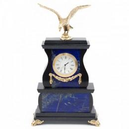 """Декоративные часы из лазурита """"Гордый орёл"""", высота 25 см"""