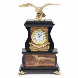 """Декоративные часы из яшмы """"Гордый орёл"""", высота 25 см"""