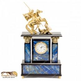 """Каминные часы из камня и бронзы """"Корильяно"""" выс.31см"""