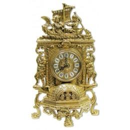 """Часы каминные Alberti Livio """"Путешествие"""" (полир. бронза) h.40см"""