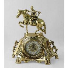 """Декоративные бронзовые часы """"Скачки"""", выс.31см"""
