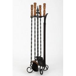 Декоративный каминный набор «Iron lance», черный