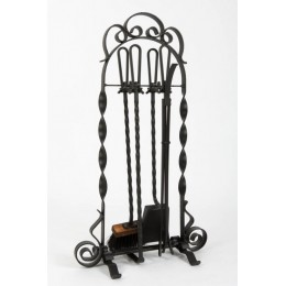 Декоративный каминный набор с металлическими ручками «Tulip», черный