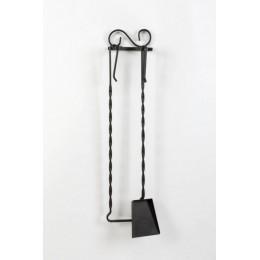Декоративный настенный каминный набор из 2 - х предметов «Matson», черный