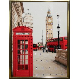 "Картина с кристаллами Swarovski ""Англия"", 15х20см"