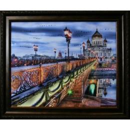 "Картина с кристаллами Swarovski ""Патриарший мост"", 61х51см"