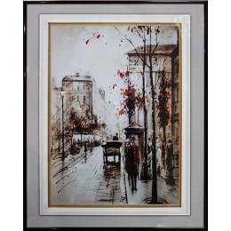 """Картина Сваровски """"Прогулка по Лондону"""", 40 х 50 см"""