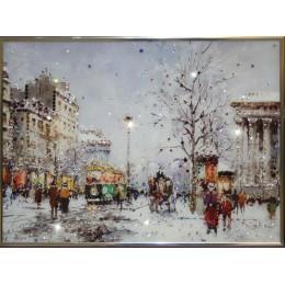 """Картина Swarovski """"Зимний вечер"""""""