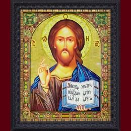 """Картина с кристаллами Swarovski """"Икона большая Христос Спаситель"""""""