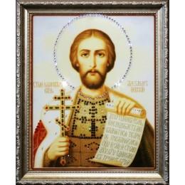 "Картина с кристаллами Swarovski ""Икона Святой Александр"""