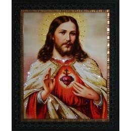 "Картина с кристаллами Swarovski ""Сердце Христа"""