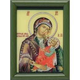 """Православная икона Swarovski """"Богородица-Утоли мои печали"""", 12х17см"""