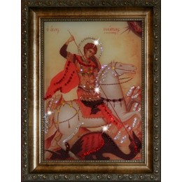 """Православная икона Swarovski """"Георгий Победоносец"""""""