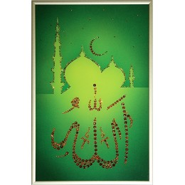 "Картина Сваровски ""Аллах"", 20 x 30 см"
