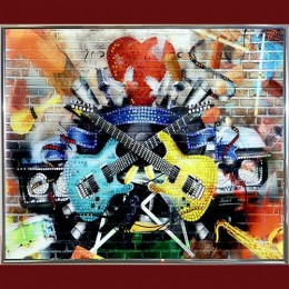 "Картина с кристаллами Swarovski ""Гитары"""