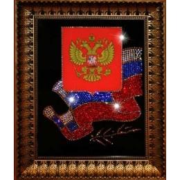 "Картина с кристаллами Swarovski ""Флаг и Герб РФ"""