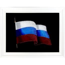 """Картина с кристаллами Swarovski """"Государственный Флаг России"""", 48 х 38 см"""