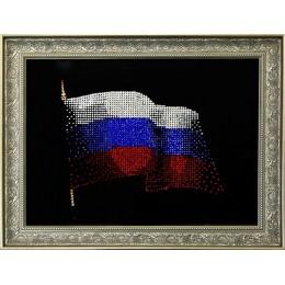 "Картина Сваровски ""Флаг России"", 40 х 30 см"
