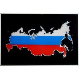 """Картина Сваровски """"Карта России"""", 60 х 40 см"""