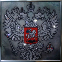 """Картина Swarovski """"Герб""""(серебро)"""