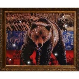 "Картина Swarovski ""Медведь-Символ России"""