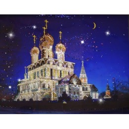 """Картина Swarovski """"Воскресенский Собор"""" (Тутаев)"""