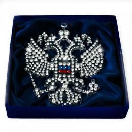 """Панно с кристаллами Swarovski в форме герба """"Двуглавый Орел"""""""