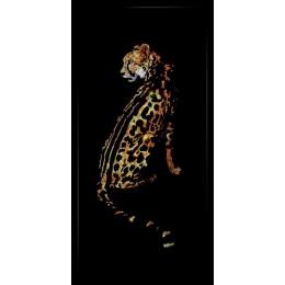 "Картина Сваровски ""Гепард - принц"", 40 х 80 см"