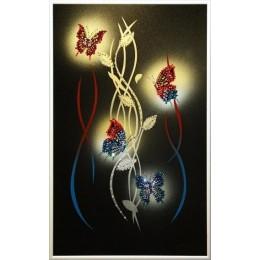 """Картина Сваровски """"Огонь в ночи"""", 25 х 40 см"""