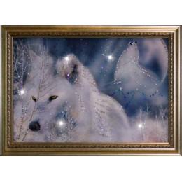 "Картина Swarovski ""Белые волки"""
