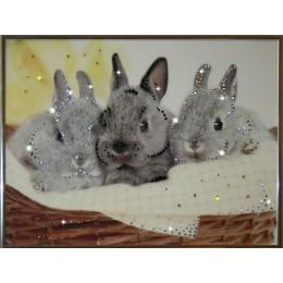 """Картина Swarovski """"Братцы кролики"""""""