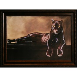 "Картина Swarovski ""Грация пантеры"", 71х51см"