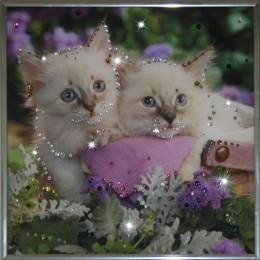 """Картина Swarovski """"Котята"""""""