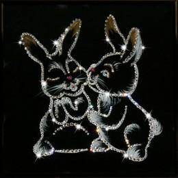 """Картина Swarovski """"Крольчата"""""""