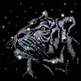 "Картина Swarovski ""Снежный тигр"""